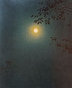 Yajuro Takashima 高島野十郎 - Mangetsu Full Moon 満月