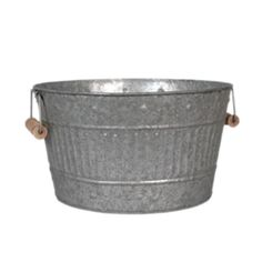 Fireside Home - K-230 Zinc Tub - Round - Small (http://www.firesidehome.ca/k-230-zinc-tub-round-small/)  #tinware #vintage #homedecor #homeaccent #gift #decor
