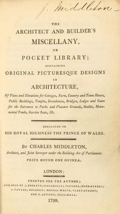The architect and builder's miscellany or pocke...
