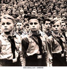 Hitler Youth parade circa 1936 - Stock Image