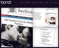 BERFROIS ~ They already had over 3,000 articles on the website when they approached us to freshen up the design, and especially make the essays easier to read. Cosmopolitan Magazine, The Republic, Articles, Politics, Teaching, Website, Sayings, Words, Blog