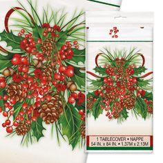 Juletjørn Tema Plastikdug 137 cm. x 213 cm.