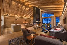 World class luxury ski holiday Chalet McKinley in Zermatt available to book through Ultimate Luxury Chalets. Chalet Design, House Design, Indoor Jacuzzi, Chalet Interior, Luxury Penthouse, Luxury Ski Holidays, Beautiful Dining Rooms, Attic Design, Cabin Homes