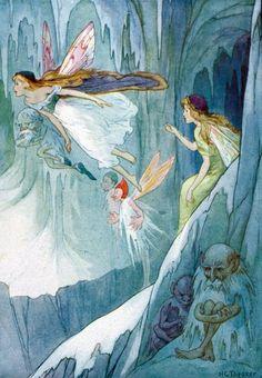 Harry G. Theaker Fantasy Magic, Fantasy Art, Dragons, Kobold, Fairy Pictures, Vintage Fairies, Love Fairy, Fairytale Art, Beautiful Fairies