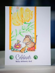 SUPPLIES  Stamps: (All Penny Black) Garden Critters; Sweetness; To You Coloring: Watercolor Pencils (Derwent); Prismacolor Pencils; Black Dy...