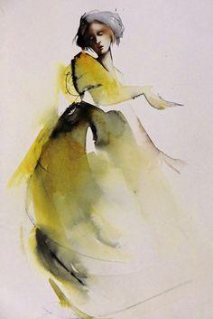 Watercolor Techniques, Art Techniques, Watercolor Portraits, Watercolour Painting, Figure Painting, Figure Drawing, Salon Art, Illustration Mode, T Art