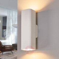 Norwin 2-bulb rectangular plaster wall light-9613040-30