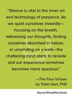 Tobin Hart, The Four Virtues #BookQuotes
