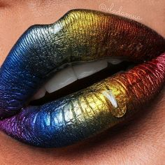 Phantom002 rainbow for @patmcgrathreal ❤ Exciting news!!! Tomorrow at 9am PST #phantom002 individual pigments will go on sale at www.patmcgrath.com for a limited time only!!! Get your hands on the most amazing metallic pigments on the market! They come in a pressed form, can be used anywhere on your face or body, can be mixed with mixing mediums and lip glosses, can be used as highlighters, eye shadows, lip glosses, etc. The possibilities are endless! #makeup #lipart #patmcgrathlabs ...