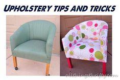 DIY Furniture  : DIY Quick Upholstery Tips
