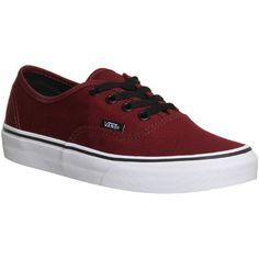 Vans Authentic (215 BRL) ❤ liked on Polyvore featuring shoes, sneakers, vans, zapatos, flats, trainers, port royale black, unisex sports, sports trainer and flats sneakers