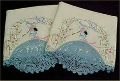 Vintage Southern Belle Emb Transfer Pillowcases PATTERN Embroidered Sewing Craft