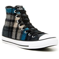 Converse Chuck Taylor High Top Sneaker (Unisex) ($50) ❤ liked on Polyvore featuring shoes, sneakers, converse, high top platform sneakers, plaid shoes, high top trainers, hi tops and lacing sneakers