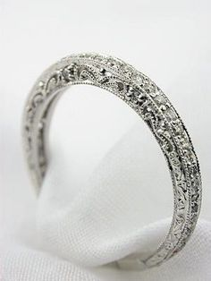 Love this wedding band! Love this wedding band! Love this wedding band! Love this wedding band! Antique Wedding Bands, Wedding Rings Vintage, Diamond Wedding Bands, Diamond Rings, Solitaire Diamond, Diamond Jewelry, Vintage Style Weddings, Ruby Rings, Gold Wedding