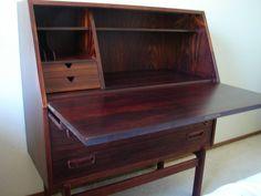 Rosewood desk.