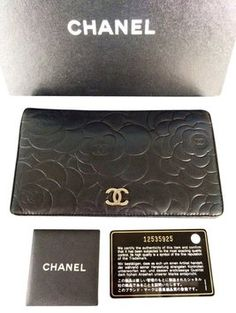 Chanel Camellia Bifold Wallet Black Clutch on sale TODAY!