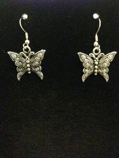 Butterfly Earrings by CountryGalPicker on Etsy, $5.00