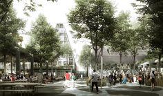 COBE Chosen to Develop Christiansholm Island in Copenhagen © COBE and Luxigon