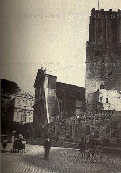 Roma Sparita - Largo Magnanapoli e Torre delle Milizie nel 1900