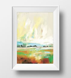 An original abstract painting. This painting is a printable, downloadable PDF. I have signed this painting also.  A minimal, contemporary piece of abstract landscape artwork hand painted by myself. The painting has been photographed and then made into a digital file that you can download and print out. Works well as a poster or even on a canvas.   This printable art is a fantastic gift idea for friends or family, these prints can be a real personal, thoughtful present for a loved one…