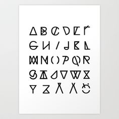 Buy GRAPHIC ALPHABETS by RK // DESIGN as a high quality Art Print. Worldwide shipping available at Society6.com. Just one of millions of products…
