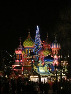 Tivoli Copenhagen at Christmastime - it was a beautiful site to behold!