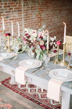 romantic tablescape - photo by FreeHope Photography http://ruffledblog.com/romantic-bohemian-wedding-ideas