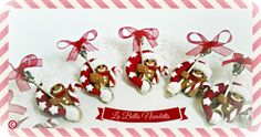 Broches Navidad galletitas muñeco gengibre love labellanuvoletta@gmail.com  si te gusta y quieres comprarlo no dudes en escribirme Gingerbread, Houses, Love, Christmas Ornaments, Holiday Decor, Home Decor, Xmas, Homes, Xmas Ornaments