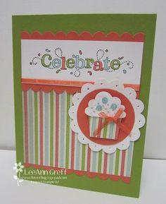 cute birthday card using build a cupcake punch