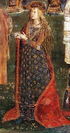 Pinturicchio: The Disputation of St, Catherine in the Borgia Apartments: Lucrezia as St. Catherine