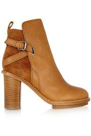 Acne StudiosCypress leather and suede ankle boots