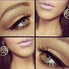love the pale pink lips and heavy eyeliner