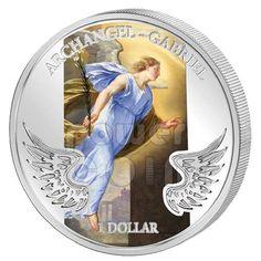 GABRIEL ARCHANGEL Guardian Angel Silver Coin 1$ Solomon 2009