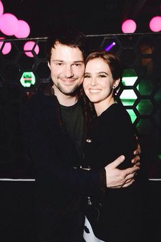 Zoey Deutch and Danila Kozlovsky at Vampire Academy soundtrack party