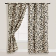 I'm buying an extra panel just for pillows | One of my favorite discoveries at WorldMarket.com: Wild Hibiscus Grommet Curtain