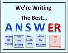 powerpoint to teach your students how to write a constructed response to a question or a prompt