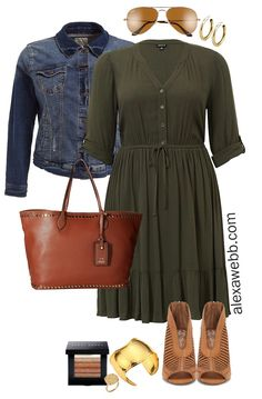 Size Spring Dresses Plus Size Teacher Outfit Idea - Plus Size Olive Shirtdress - Plus Size Fashion for Women - Plus Size Spring Dresses, Plus Size Outfits, Mode Outfits, Dress Outfits, Fashion Outfits, Womens Fashion, Fashion Ideas, Fashion Blogs, Club Outfits