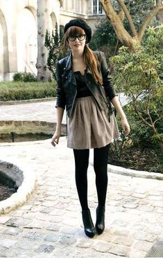 Feminine with leather details