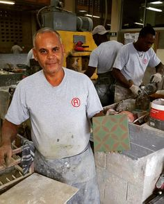 """This is Benjamin Reyes third generation tilemaker (we call them """"mosaistas"""") . He has been making cement tiles for 35 years. His father part of the original employees of #aguayotiles in 1948 learned the craft from Benjamin's grandfather who had been a tilemaker in Puerto Rico.  Because handmade always has a story and what would we be without one? #handmadetiles #cementtiles #thirdgeneration #craftmen #artisans #maestro #stories #tilelove #tileaddiction #floors  #TheCementTileChallenge by…"""