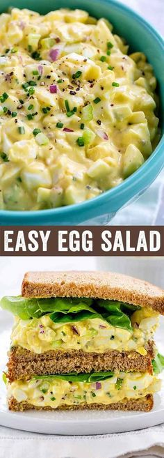 This classic egg salad recipe features foolproof hard-boiled eggs, homemade mayonnaise, mustard and crunchy mix-in's. Perfect for a light meal or sandwiches all year long. via Jessica Gavin salad sandwich Light Recipes, Egg Recipes, Sandwich Recipes, Appetizer Recipes, Salad Recipes, Cooking Recipes, Healthy Recipes, Healthy Food, Salade Healthy