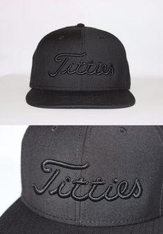 Golf Visors and Hats 158937  Black Edition Titties Golf Hat Snapback Cap  Titleist Bachelor Gift 2e0e6c8fb79