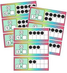 Tens Frame Activities - Hands On Practice Recognizing & Ma