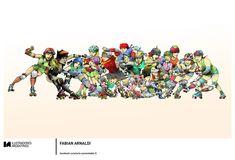 © FABIAN ARNALDI | Ilustración para la muestra Roller Derby de Ilustradores Argentinos | #rollerderby | Fotos: https://www.facebook.com/media/set/?set=a.725585730870003.1073741832.100296976732218&type=1