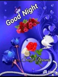 Good Night Flowers, Romantic Good Night, Sweet Night, Good Night Sweet Dreams, Birthday Message For Husband, Good Night Blessings, Good Night Greetings, Goeie Nag, Good Night Image