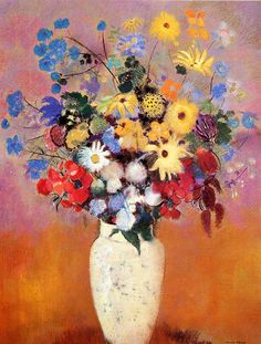 White Vase with Flowers  Odilon Redon