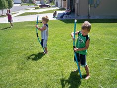 You Craft Me Up!: PVC Pipe Bow and Arrows