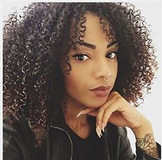 Afro Kinky Curly Brazilian Virgin Hair Lace Front Wigs 100 Human Hair Glueless Wigs with Natural Hairline and Baby Hair for African Americans 16 Inches 1B Color * Find out more about the great product at the image link.