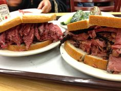 Katz's Delicatessen in New York, NY pastrami sandwich