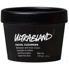 Ultrabland is a thick, rich emulsion of essential oils, honey and beeswax to take off any makeup or residue that has built up on your face throughout the day. Unlike most makeup removers, Ultrabland leaves skin feeling soft and nourished thanks to soothing rosewater and iris flower extract. Suitable for all skin types, this classic Lush cleanser is hugely popular with staff and customers alike for it's effectiveness. Not so bland after all, is it?