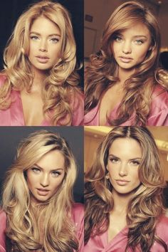 Victorias Secret Angels- makeup and hair perfection